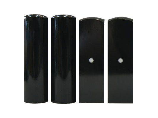 高級黑牛角四分方(圓)印章加長6cm-肚臍章