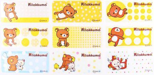 B003-拉拉熊-1.3*3授權彩色姓名貼【明安雅印】-162張-日期章
